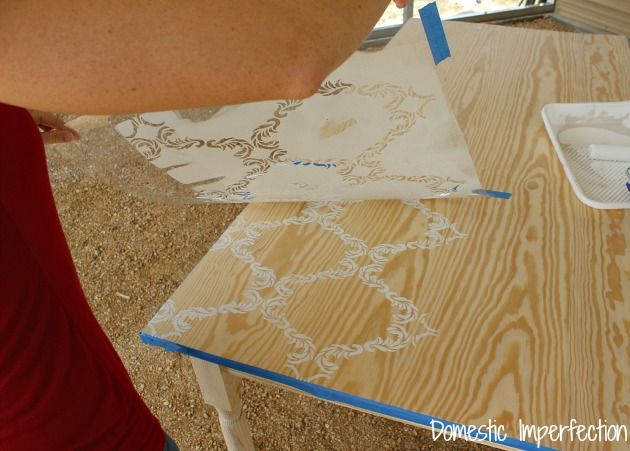 stenciling a table
