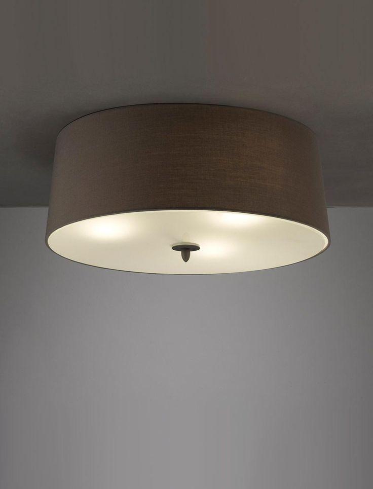Plafón gris ceniza LUA 3 luces - La Casa de la Lámpara