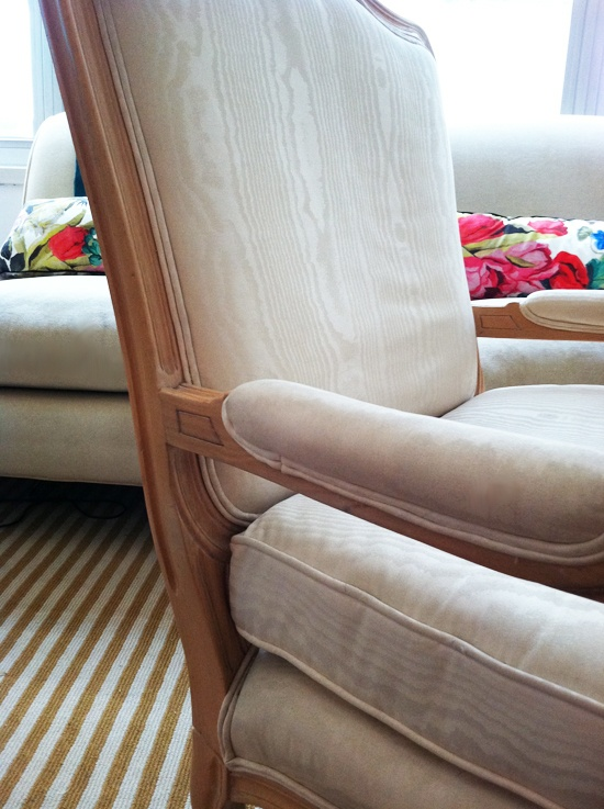 reupholstering a chair tutorial