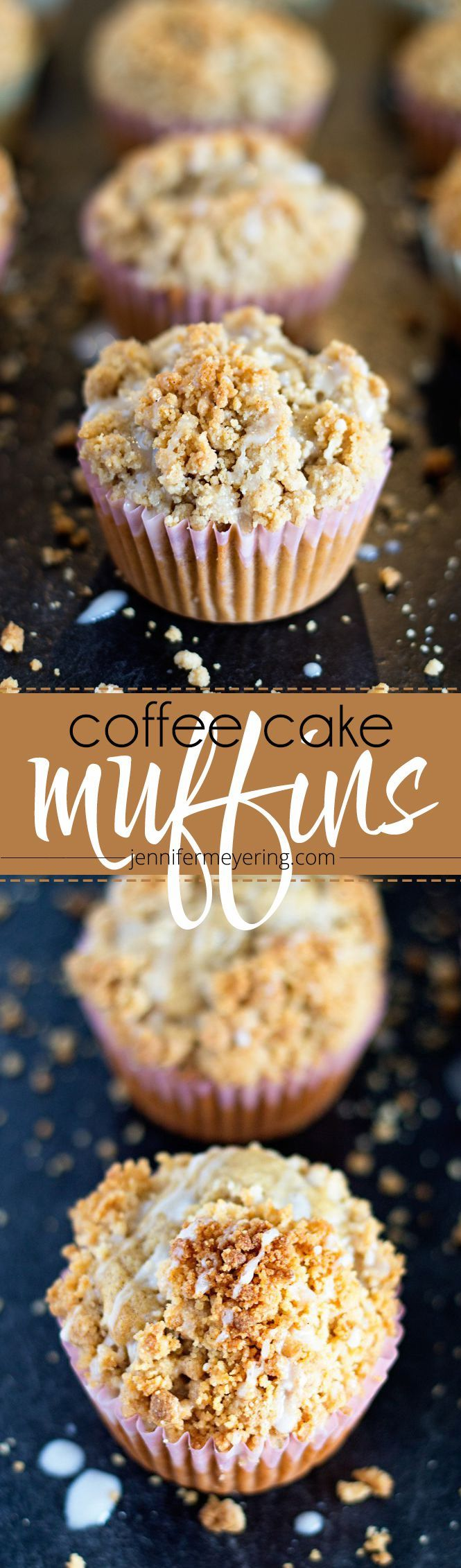 These Coffee Cake Muffins look easy enough and delicious! A fun idea for brunch or breakfast.