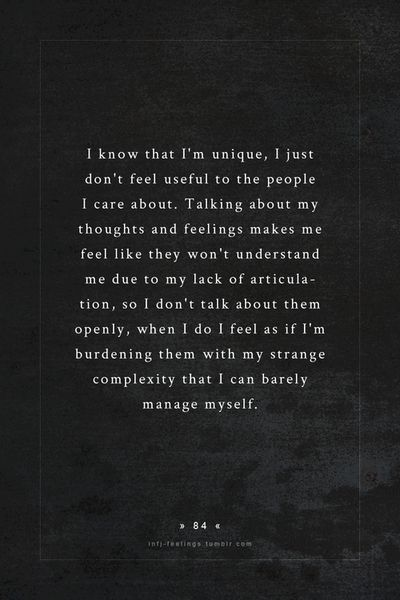Hate to burden people with everything in my head that I don't understand myself