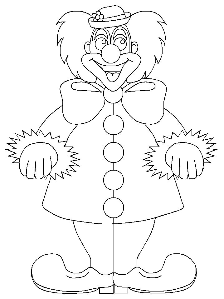 Clown coloring pages circus coloring pages coloring for Carnival themed coloring pages