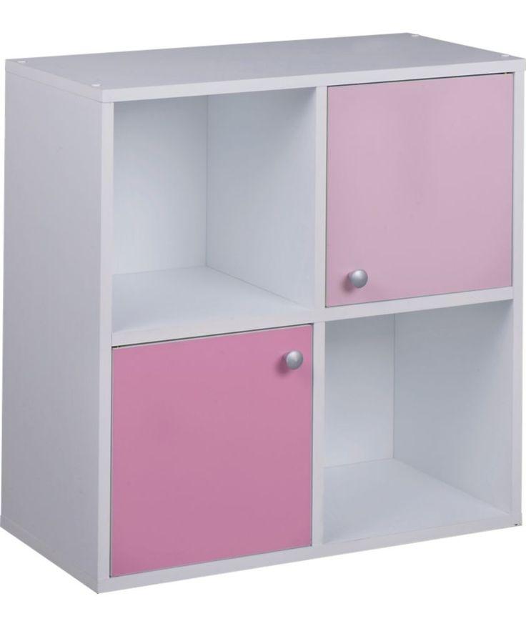 Phoenix Half Door Storage Cubes Pink On White At Argos Co Uk