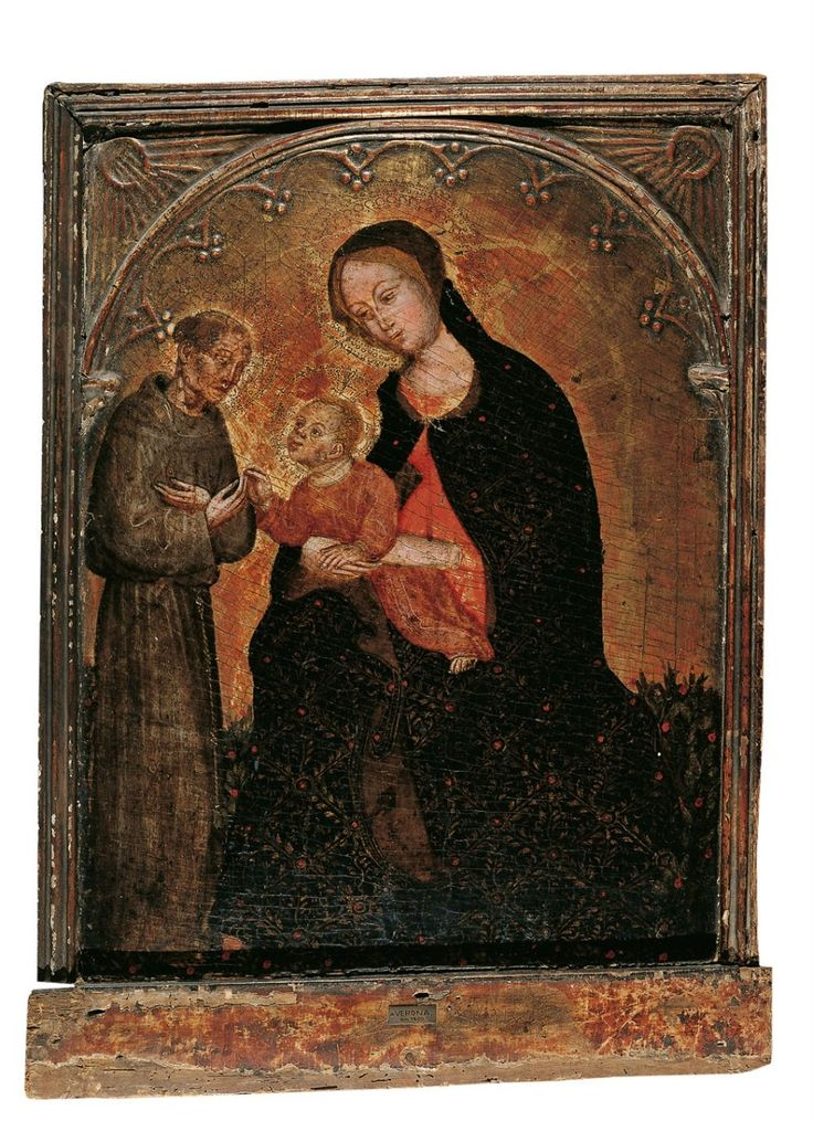 Ottaviano Nelli, MADONNA WITH CHILD AND SAINT FRANCIS, Auction 903 - 900th Auctions - Old Masters, Lot 1108