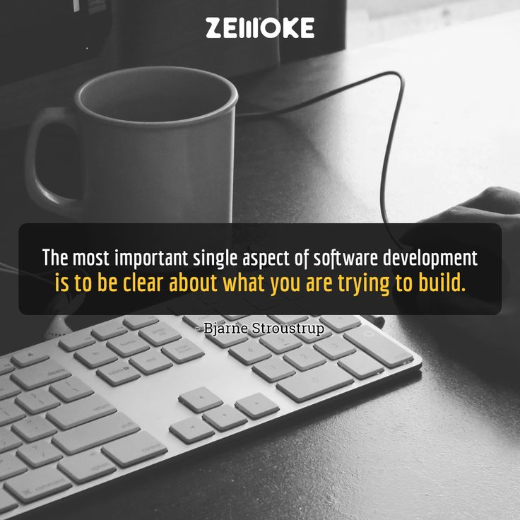 The most important single aspect of software development is to be clear about what you are trying to build. - Bjarne Stroustrup. #Software #mobile #cyber #soluction