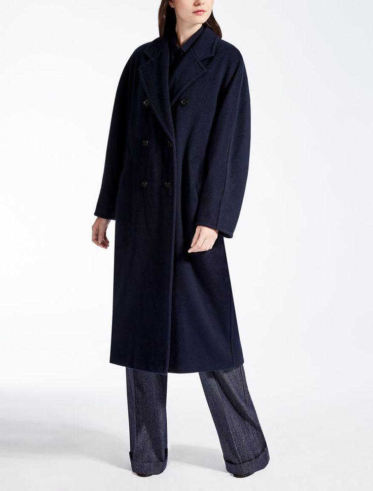 Max Mara MADAME bleu marine: Manteau en laine et cachemire.
