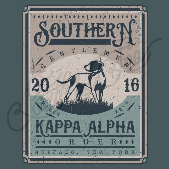 Fraternity Recruitment Kappa Alpha Order Vintage Dog Frame South By Sea