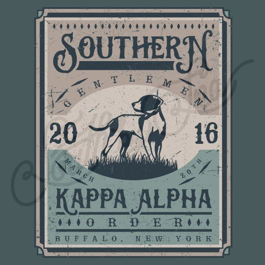 Fraternity Recruitment Kappa Alpha Order Vintage Dog Frame South By Sea