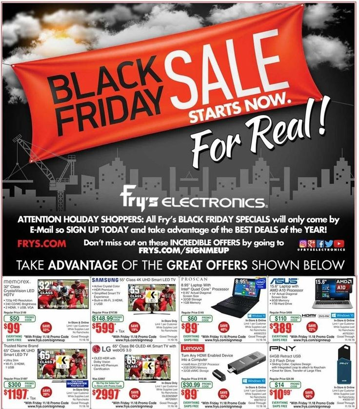 Fry's Electronics 2016 Black Friday Ad Preview
