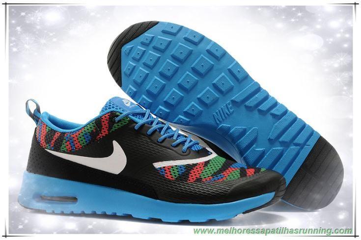 comprar tenis online 599408-014D Branco / Preto Moon / Verde / Azul / Amarelo Nike Air Max Thea Print Masculino