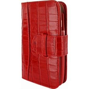 Gezien op Beslist.nl: Piel Frama Wallet iPhone 6 / 6S Croco Red