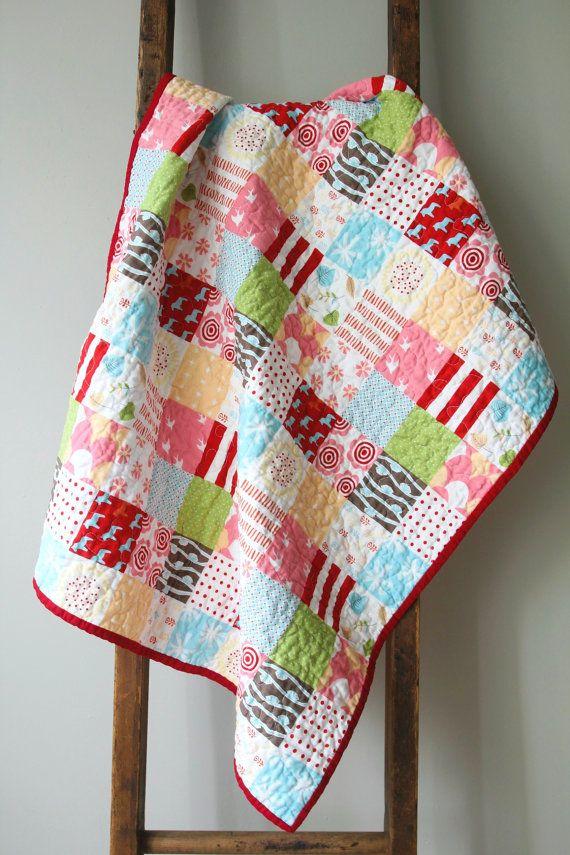 Modern Baby Quilt Nursery Bedding Patchwork Quilt