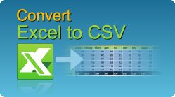 Convert Excel file to CSV in C#, VB.NET, Java, PHP, ASP classic, C++, C++.NET, VB6, VBS! XLS, XLSX, XLSM, XLSB spreadsheets by EasyXLS.  #EasyXLS #Convert #Excel #CSV #CSharp #VBNET #Java #PHP