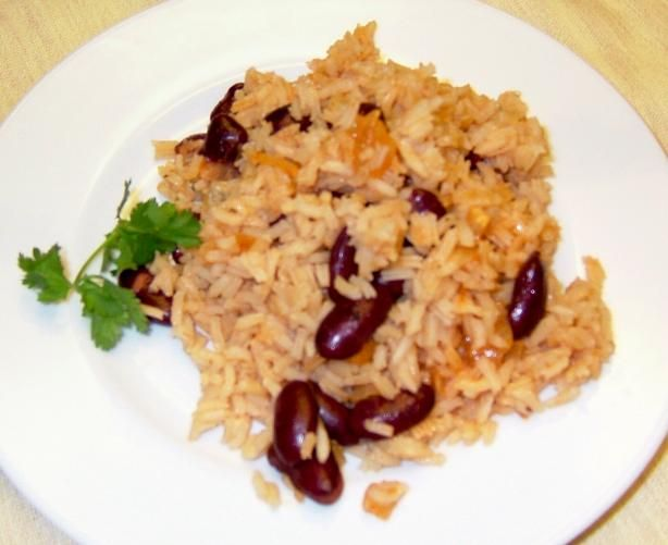 Jagacida (Jag) - Beans and Rice from Cape Verde from Food.com: Although I'm posting this for the 2005 World Tour, this is for me a dish from childhood. My Cape Verdean mother made this often and served it with tuna fish cakes. I loved mine smothered in catsup. This makes a huge batch and we often served it reheated with more onions, linguica and fried eggs for breakfast the next day. Traditionally, it is made with kidney or lima beans but I remember Nana (my grandmother) making it with peas…