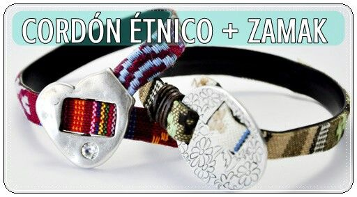 Zamak y cordones étnicos!  En www.imaginabalorios.es