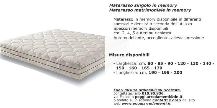 Materassi memory di grande qualità e convenienti da #PoggiArredamenti memory #materassi