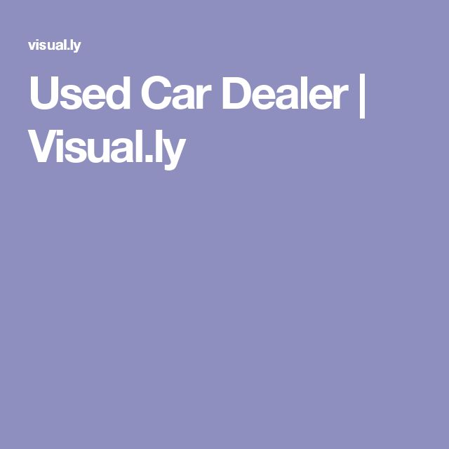 Used Car Dealer | Visual.ly