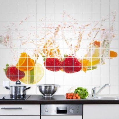 Fruit Splash Tile Murals
