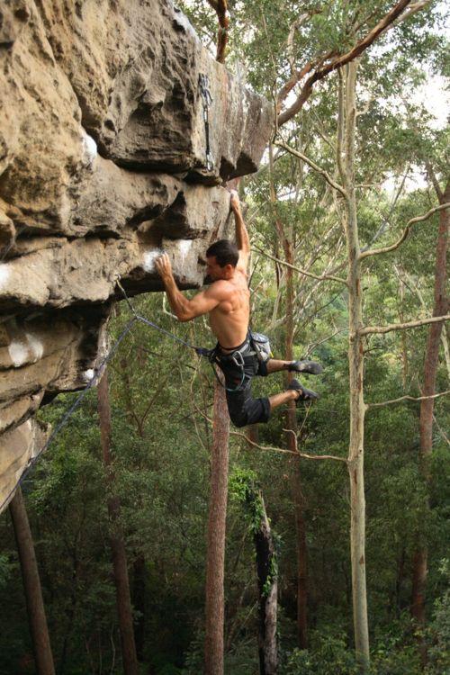 rock climbing...wow