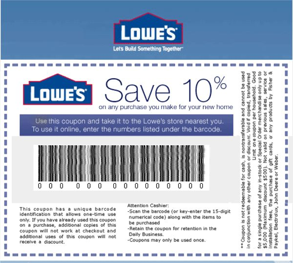 Best for more then $ Purchase Lowes Coupons & Lowes Promo Code are among the best useful coupons in the coupons market. Out of all lowes coupon, lowes 10% off coupons are the most kaipelrikun.ml you are dong any big purchase from Lowe's then 10% off lowes coupon .