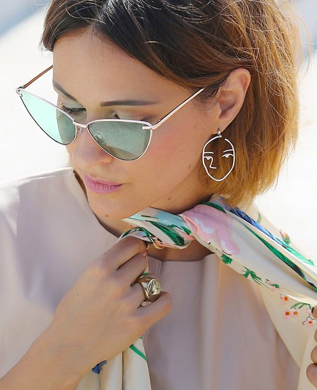 Amber Sceats earrings | cat eye sunglasses | Ellena Galant Girl