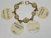 Lavender Hill Antiques - Rare Victorian Ivory Theatre Ticket Pass Bracelet