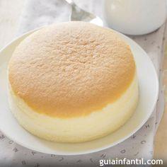 Pastel de queso japonés con tres ingrediente