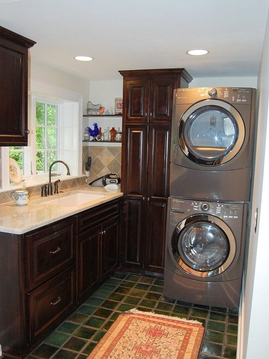 Nice Laundry Room Ideas Stacked Washer Dryer With Laundry Room Design