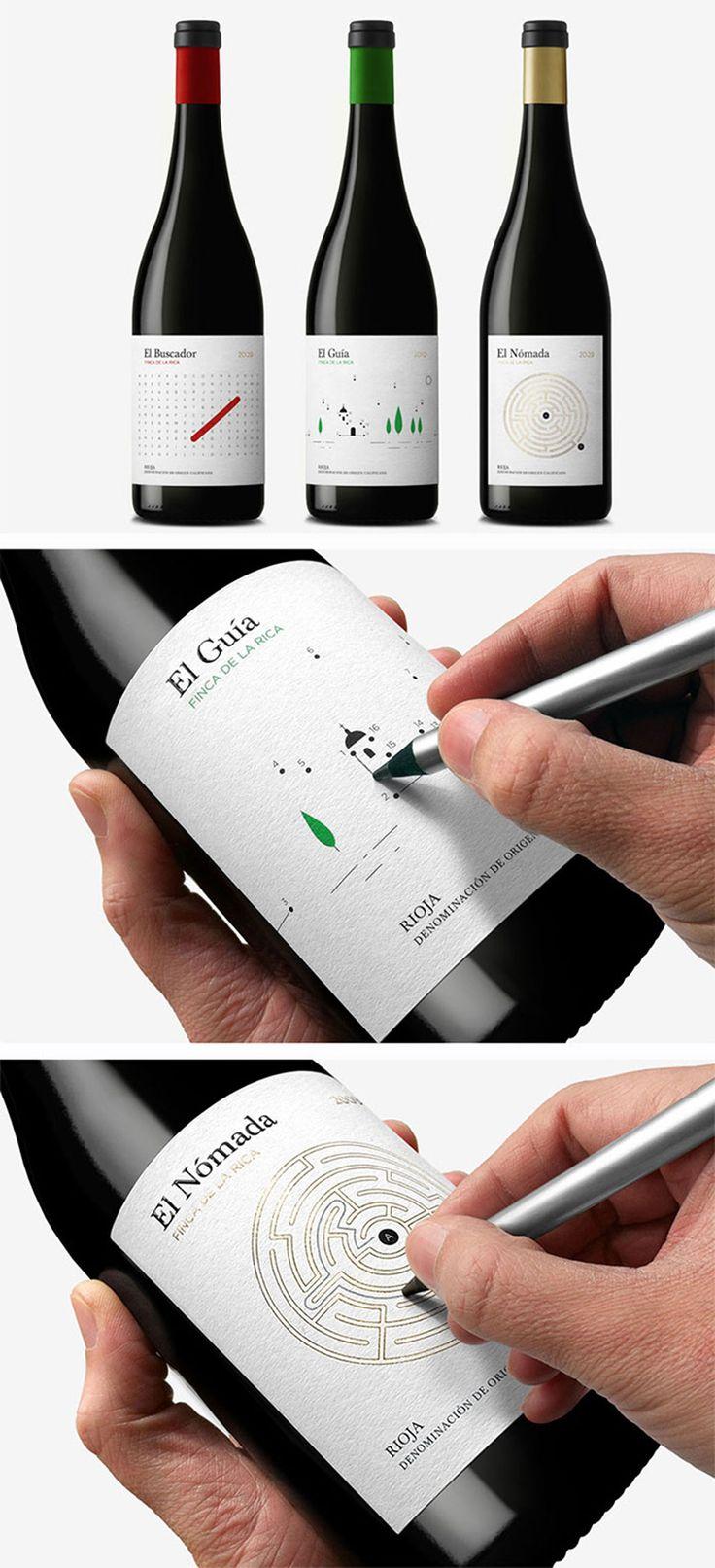 Jeu sur les étiquettes des bouteilles de vin | Etiquette de vin ludique