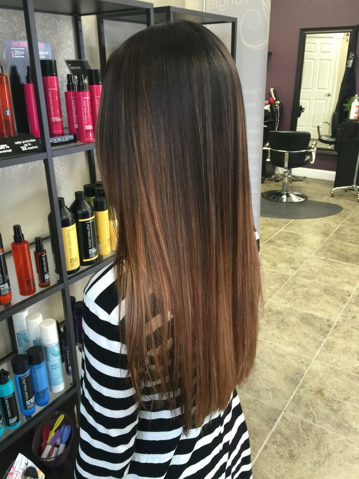 Dark brown & Carmel balayage/Ombre