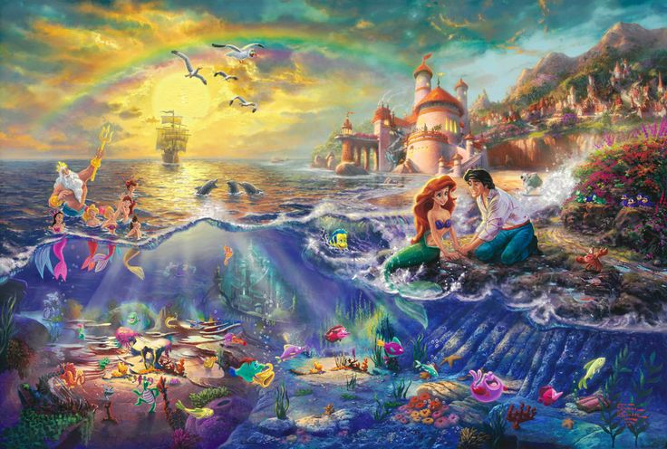 Thomas Kinkade - Disney. Someday, i will own all of his disney paintings. Don't know how, but I will.