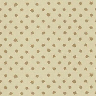 Lower George Street (0273LGMOONS) - Little Greene Wallpapers - Despite its contemporary appearance this abstract design dates from the early 1800s. Pretty gold stars on a warm cream background. Please order sample for true colour match.
