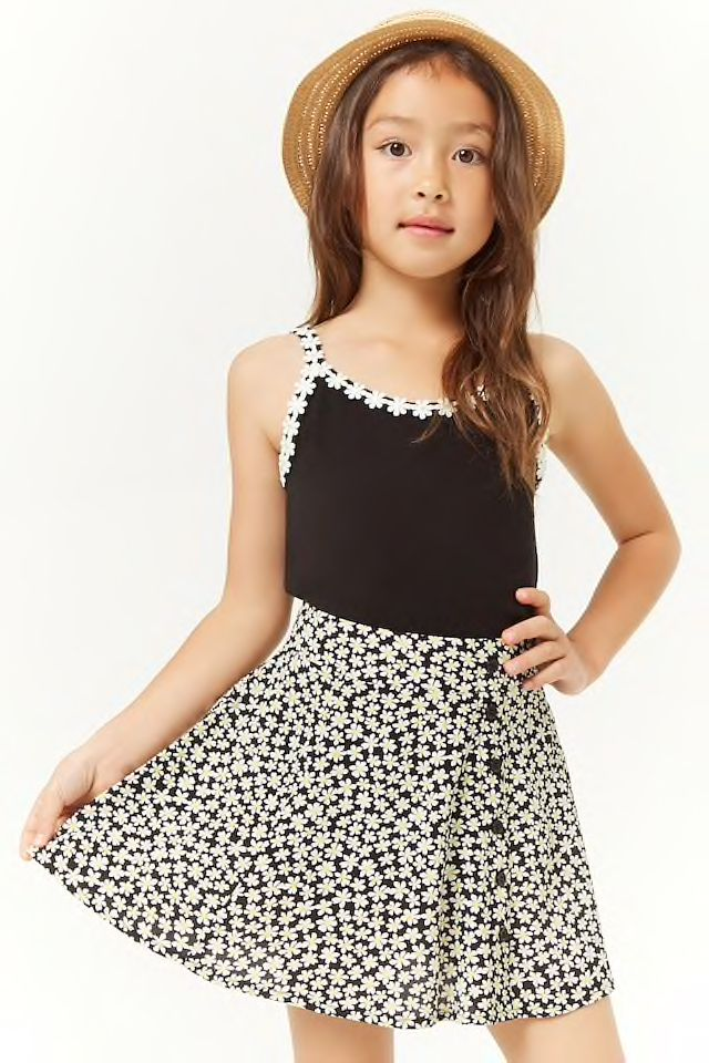 0463c62b73a00f Girls Ditsy Floral Skirt (Kids) in 2019   Kids styling at F21 ...