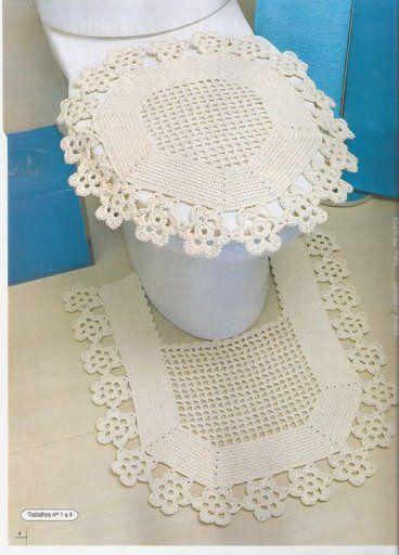 croche com a natureza - jogo de cozinha e banheiro | andreiatur.arteblog.com.br