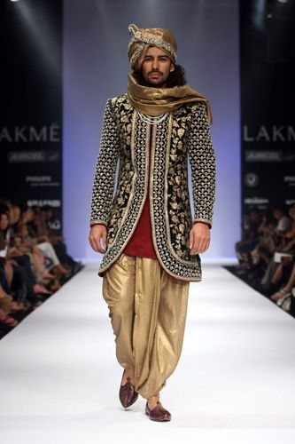 traditional Indian men's wedding suit - By Rohit Bal (Baroque)