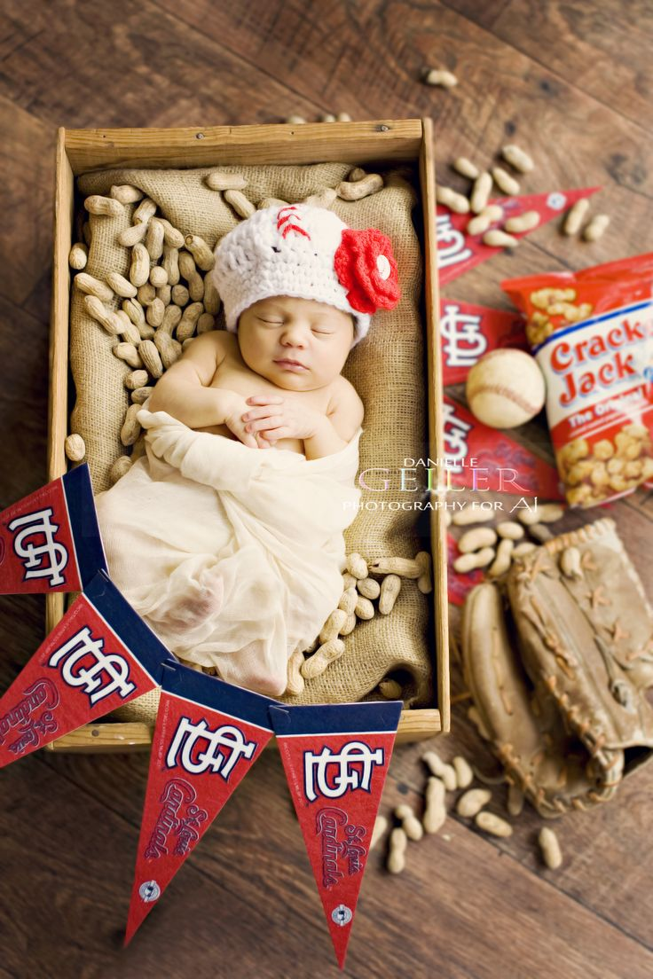 Cardinals, Baseball, Newborn Photography,