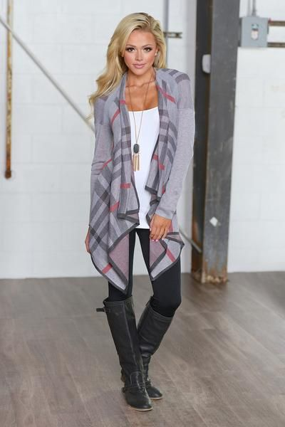 Memories In The Mountains Cardigan - Heather Grey