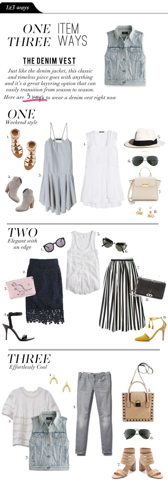 Fashion File: 1x3 Ways - The Denim Vest