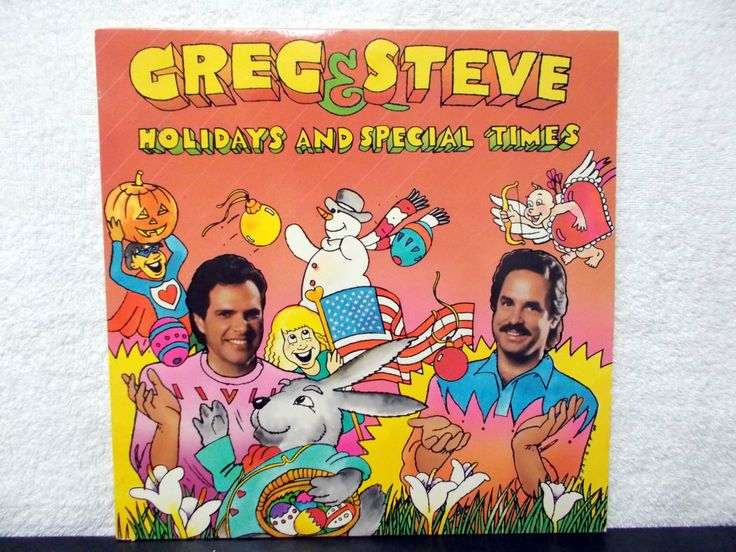 Greg & Steve- Holidays and Special Times. Learning is Fun! 1989 Vinyl LP 33. Pre-school thru Primary school