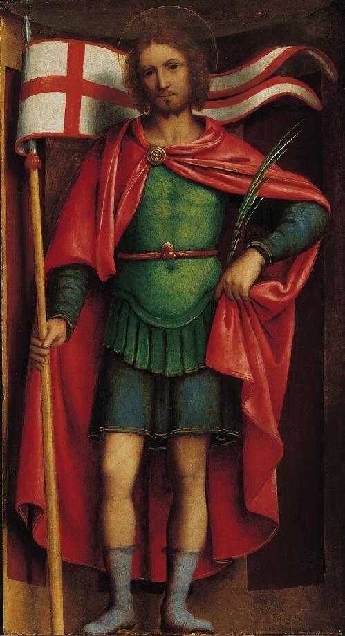 The face of Leonardo da Vinci. BERNARDINO LUINI SAN ALEJANDRO 1525