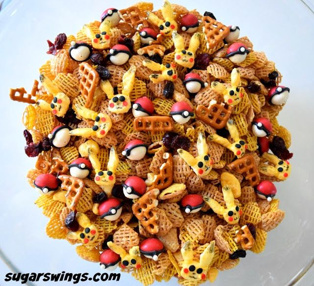 Sugar Swings! Serve Some: Pokemon Go Sweet & Salty Snack Mix - with Pikachu and Mini Pokeballs - OK THIS IS AMAZING