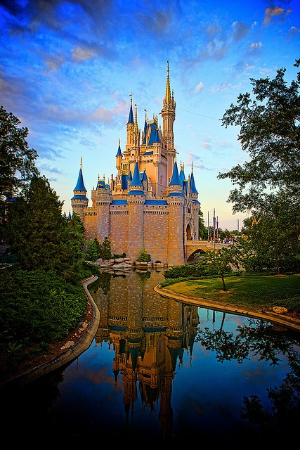 Magic Kingdom - Cinderella's Castle by Matt Pasant. I miss it!