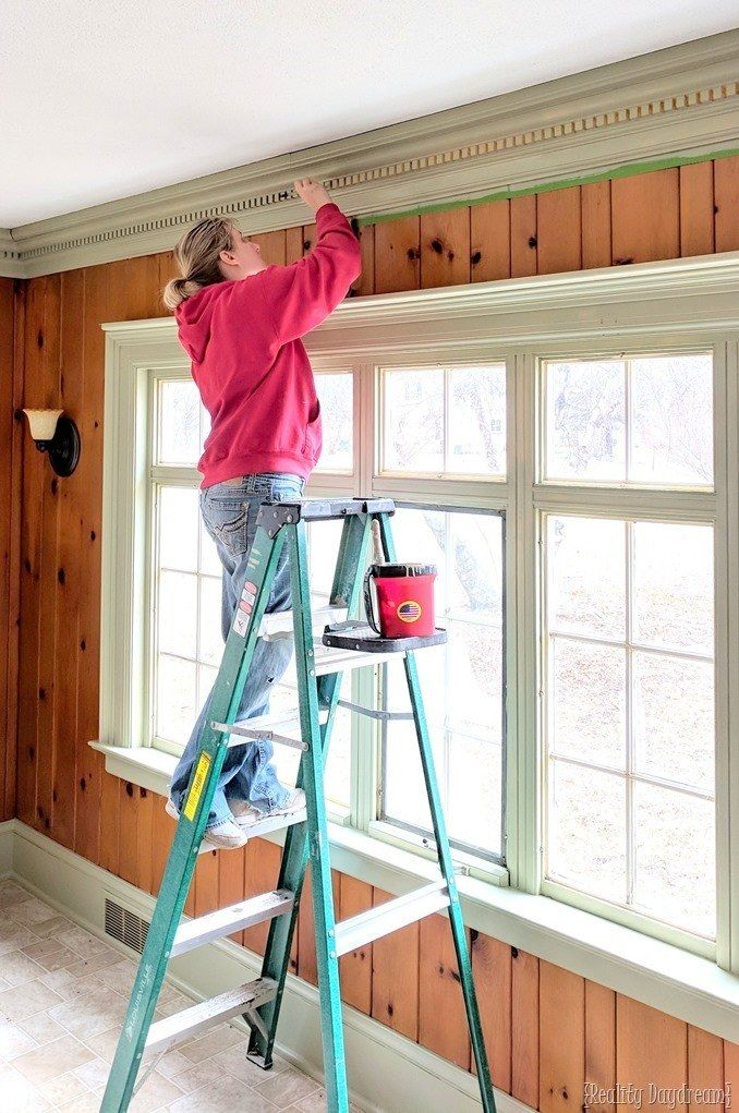 Tips For Painting Around Trim And Window Panes With Painters Tape Painting Trim Painters Tape Trim