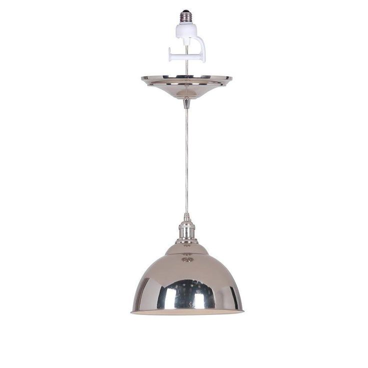 Canady 1 light polished nickel instant pendant with conversion adapter