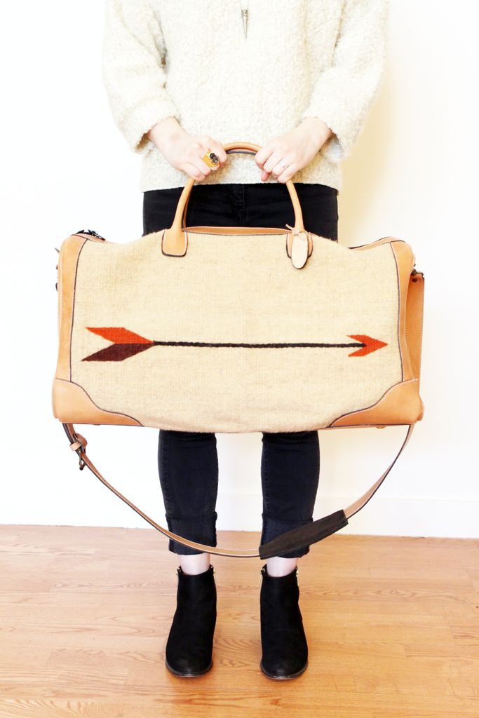 Everything about this bag makes it the ideal travel bag. Hand woven wool arrow…