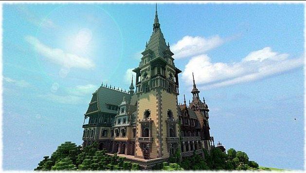 minecraft castles | Minecraft 19th century Castle Vitruvian City Map | Minecraft: Texture ...