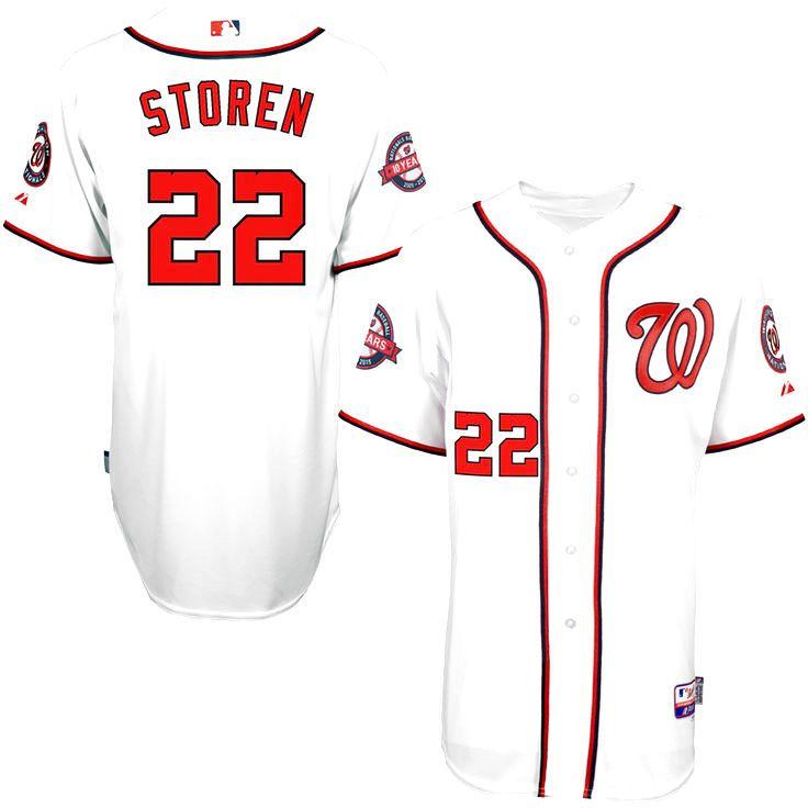 Drew Storen Washington Nationals Majestic 10-Year Anniversary Player Authentic Jersey - White - $125.39