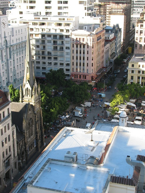 Looking over Green Market Square, Cape Town. South Africa