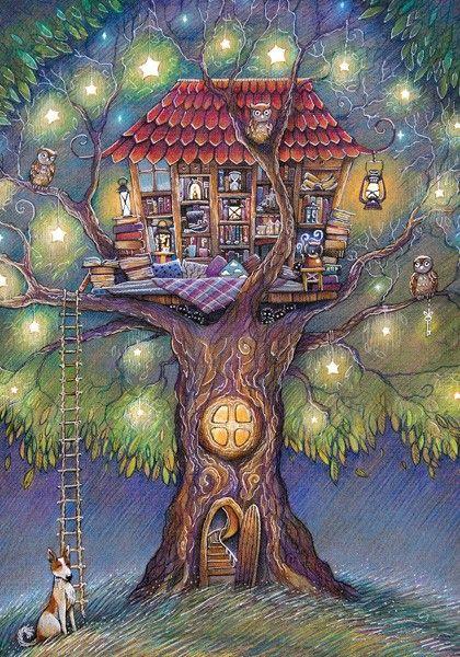 Домик на дереве - Lovelycards