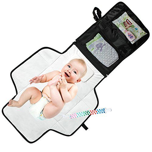 Mom's Besty™ Luxury Baby Change Pad with Built-in Head Cushion - Portable Diaper Changing Station for Travel and Home - BONUS Pacifier Holder Clip Mom's Besty http://www.amazon.com/dp/B0145QF41E/ref=cm_sw_r_pi_dp_xbTaxb0TK8FYE